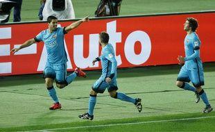 Luis Suarez a marqué un triplé contre Guangzhou en demi-finale du Mondial des clubs, le 17 décembre 2015.