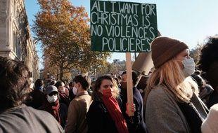 Manifestation contre la loi « Sécurité globale » et contre les violences policières, à Paris le 28 novembre 2020.