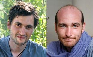 Pierre Torrès (à g.) et Nicolas Hénin, deux des journalistes français qui étaient retenus en otage en Syrie.