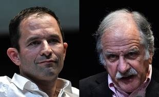 Benoît Hamon et Noël Mamère, montage.