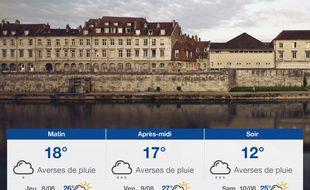 Météo Besançon: Prévisions du mercredi 7 août 2019