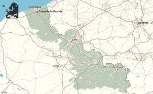 La commune de Capelle-la-Grande, dans le Nord.