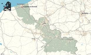 La commune de Cappelle-la-Grande, dans le Nord.