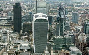 Vue du quartier financier à Londres le 24 juin 2016