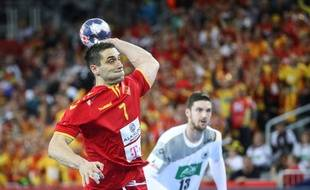 Le Macédonien Lazarov face à l'Allemagne la semaine dernière.
