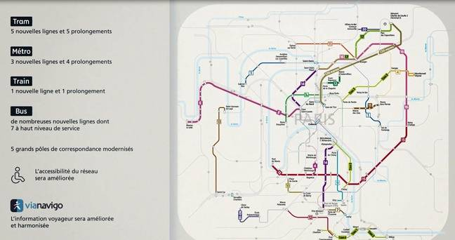 Les nouveautés du réseau métro, train, bus, tram du Stif pour 2024.