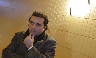 Le commandant du Costa Concordia Francesco Schettino lors d'une pause dans son procès à Grosseto le 9 février 2015