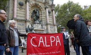 Manifestation de soutien au peuple argentin le 9 octobre 2013 à Paris à l'occasion de l'audition de Marion Alfredo Sandoval