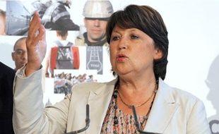 Martine Aubry lors du Conseil national du Parti socialiste le 12 septembre 2009.