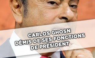 Capture d'écran d'une vidéo de Carlos Ghosn, le patron de Renault-Nissan.