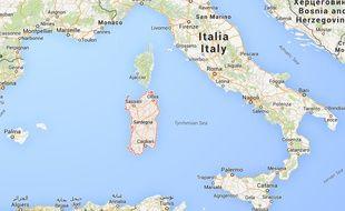 Google map de la Sardaigne.