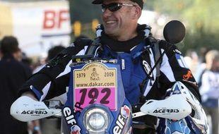 Pascal Terry, avant le départ du Dakar 2009 à Buenos Aires.