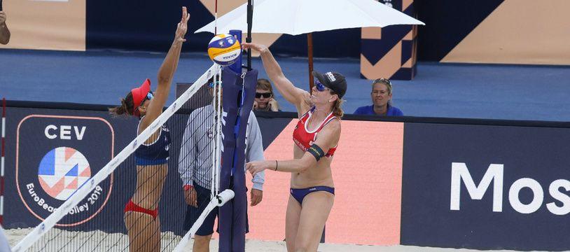 Julia Sude lors d'un tournoi en Russie à l'été 2019.
