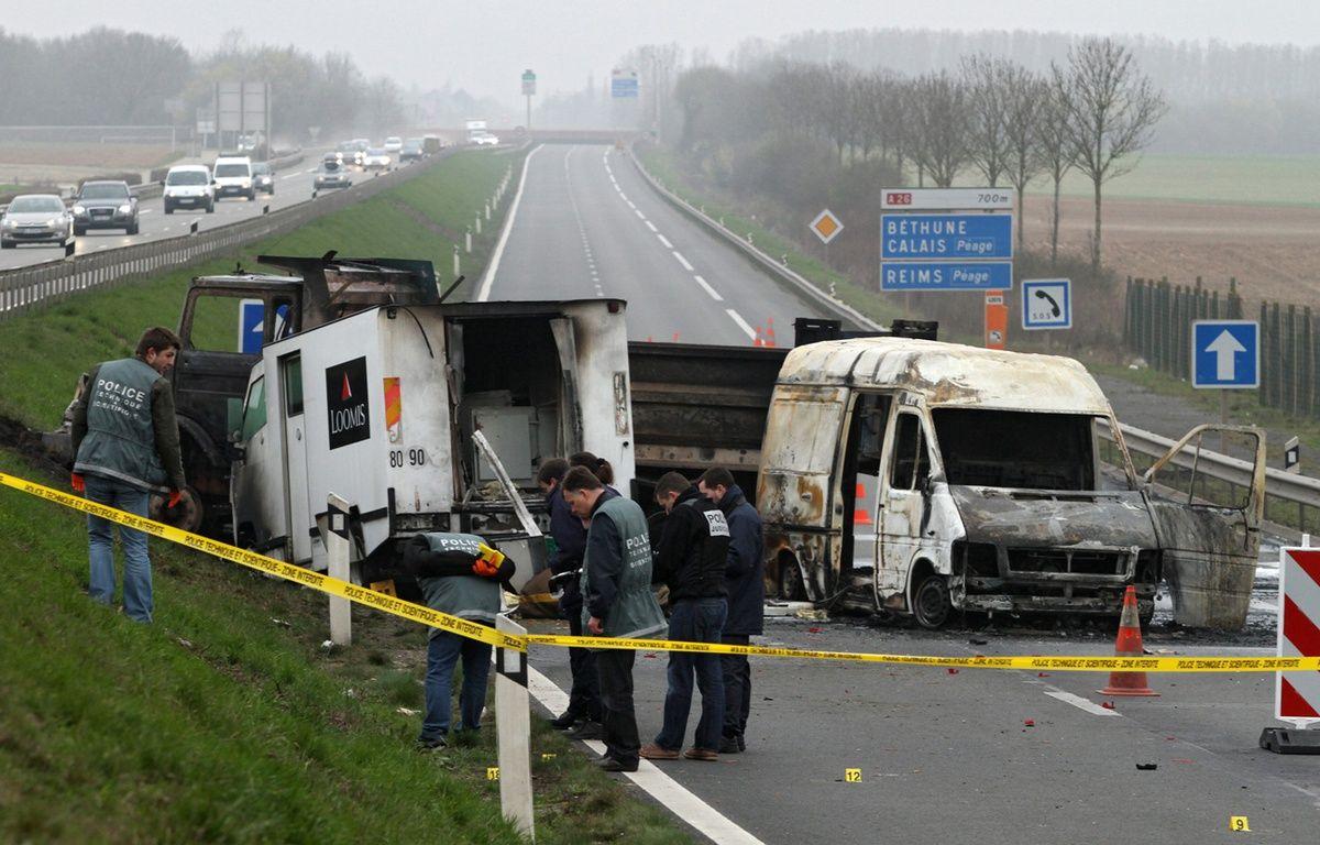 Le braquage d'un fourgon de la Loomis près d'Arras en 2011. – M.Libert / 20 Minutes