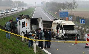 Le braquage d'un fourgon de la Loomis près d'Arras en 2011.