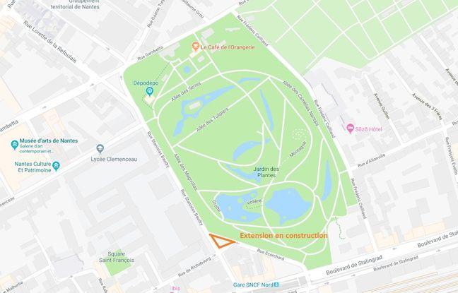 Nantes: Le Jardin des plantes va s\'agrandir de plus de 300 m2