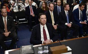 L'ancien directeur du FBI James Comey devant le Congrès américain, le 8 juin 2017.