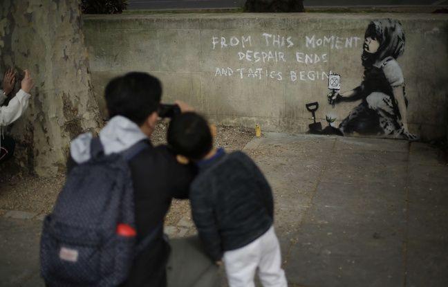 Londres: Une nouvelle oeuvre est attribuée à Banksy