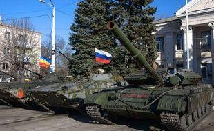 Un véhicule de l'armée dans l'est de l'Ukraine le 5 novembre 2014.
