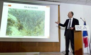 Le directeur du Bureau d'enquêtes et d'analyses (BEA), Rémi Jouty, le 25 mars 2015 au Bourget près de Paris