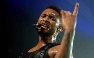 Le chanteur Usher en concert, le 1er mars 2011, à Rotterdam aux Pays-Bas.