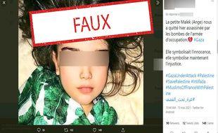 La photo de cette fillette russe a été détournée.