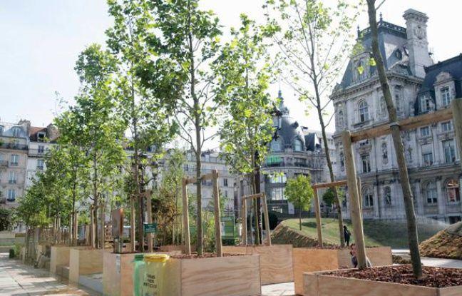 Jardin éphémère devant l'Hotel de Ville de Paris, en juin 2011.