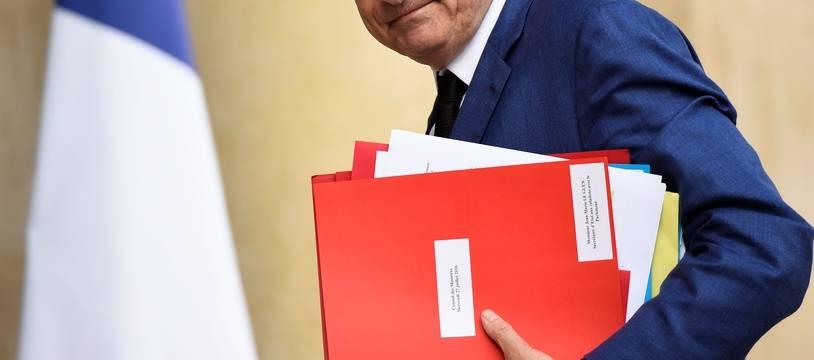 Jean-Marie Le Guen le 27 juillet à l'Elysée, en tant que secrétaire d'Etat chargé des relations avec le Parlement.