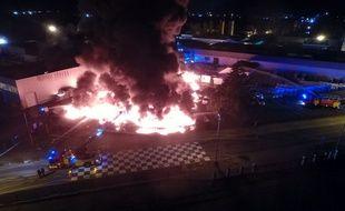 Un incendie s'est déclaré dans un bâtiment de la société Soprema, le 19 juillet 2018.
