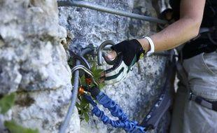 Un grimpeur (illustration)