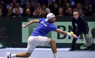 Lucas Pouille s'est sèchement incliné contre David Goffin
