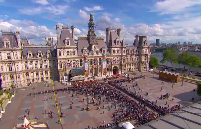 Capture écran Dailymotion/Elysée de la mairie de Paris le 14 mai 2017