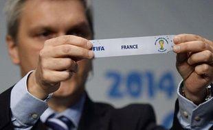 Le tirage au sort des Barrages de la Coupe du monde 2014, le 21 octobre 2013