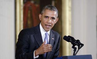 Barack Obama à la Maison Blanche, le 15 juillet 2015