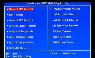 Le menu principal du BIOS