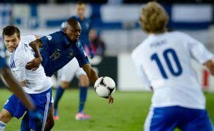 Abou Diaby, lors de la victoire 1-0 de l'équipe de France contre la Finlande, le 7 septembre 2012.