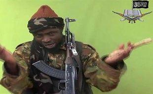 Capture d'écran de la vidéo de Boko Haram du 12 mai 2014 montrant le chef du groupe islamiste Abubakar Shekau