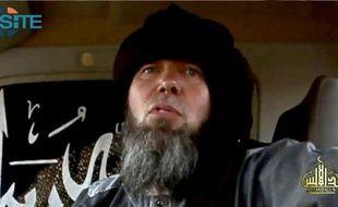 Capture d'écran vidéo montrant un otage présenté comme le Français Serge Lazarevic fournie par le centre de surveillance des sites jihadistes (SITE) et diffusée sur Twitter et des forums jihadistes le 17 novembre 2014 par une branche sahraouie du groupe islamiste Al-Qaïda au Maghreb islamique (Aqmi)