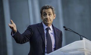 Nicolas Sarkozy en meeting à  Boulogne Billancourt.