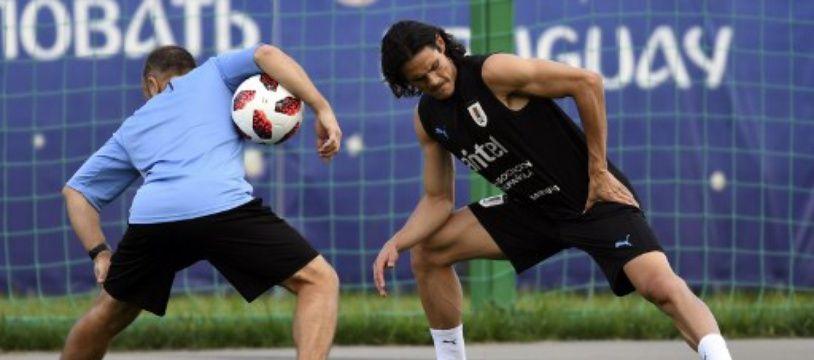 Edinson a repris un entraînement léger à la veille du match contre la France