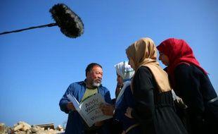 L'artiste dissident chinois Ai Weiwei, le 12 mai 2016 à Gaza