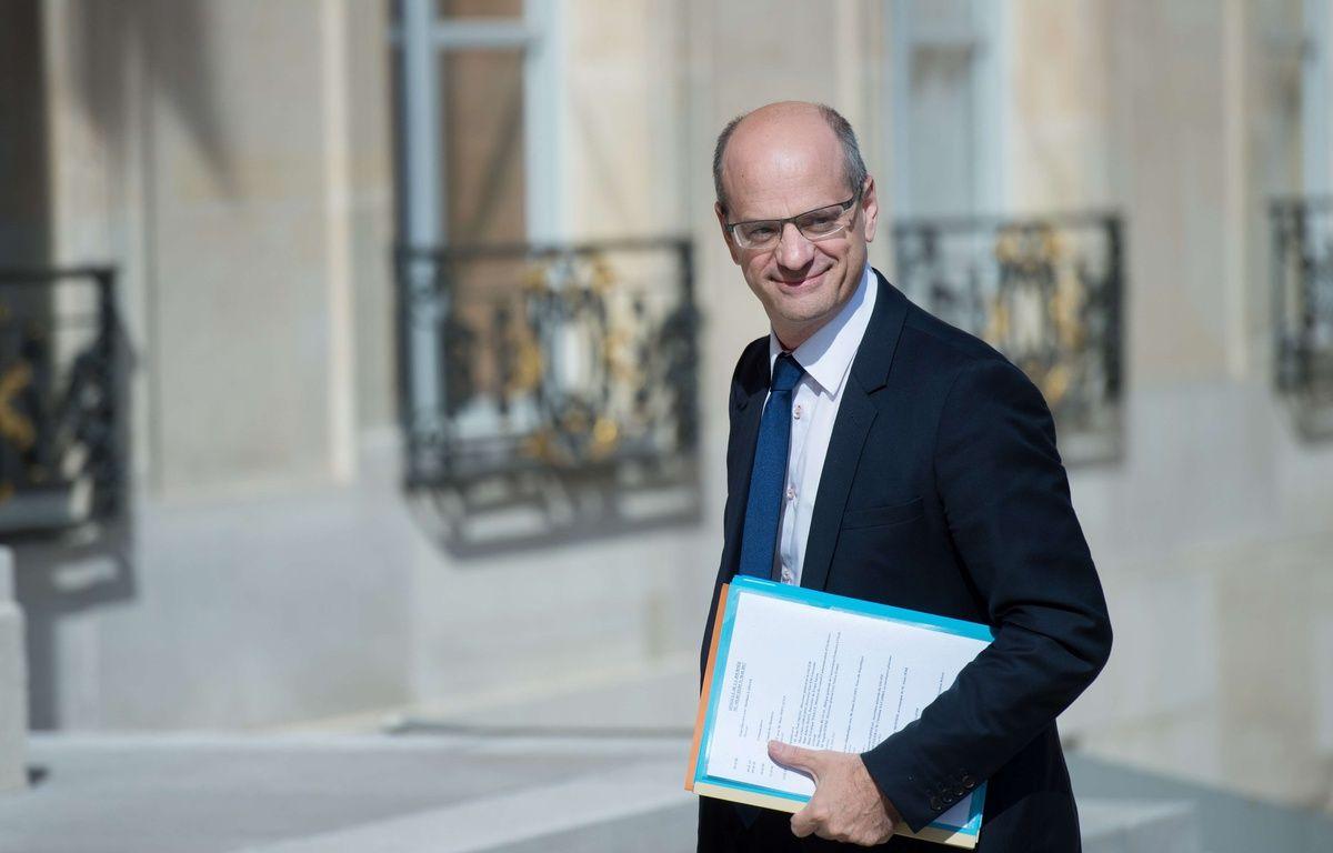 Le ministre de l'Education, Jean-Michel Blanquer  31/05/2017.Credit:CHAMUSSY/SIPA – SIPA