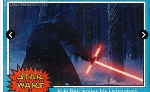 L epersonnage au sabre laser rouge de Star Wars VII s'appelle Kylo Ren