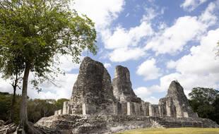 Un site archéologique Maya à Xpujil au Mexique, le 2 mars 2021.