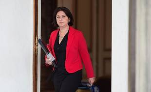 Sylvia Pinel, la ministre du Logement le 24 juin 2015 devant l'Elysée.