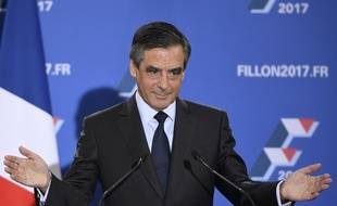 François Fillon, vainqueur de la primaire de à droite face à Alain Juppé, le 27 novembre 2016.