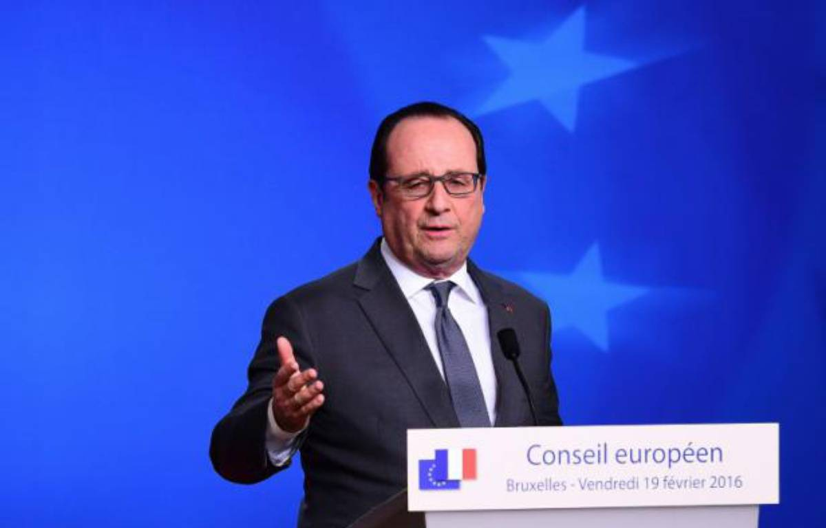 François Hollande à Bruxelles, le 19 février 2016 – EMMANUEL DUNAND AFP