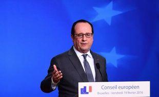 François Hollande à Bruxelles, le 19 février 2016