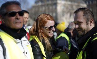 Ingrid Levavasseur en «gilet jaune», le 17 février 2019 à Paris.