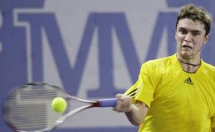 Le tennisman français Gilles Simon, vainqueur à madrid de james Blake, le 14 octobre 2008.
